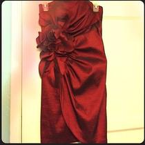 Jessica Mcclintock Red Taffeta Party Dress Photo