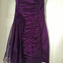 Jessica Mcclintock Short Dress Sz 4 Purple Prom Formal Wedding Dance Homecoming Photo