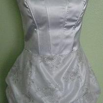Jessica Mcclintock Short White Prom Wedding Formal  Dress Sz 11 Photo