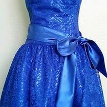 Jessica Mcclintock Size 11 Blue Formal Prom / Homecoming Short Dress Photo