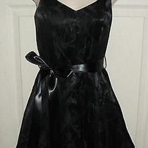 Jessica Mcclintock Size 2 Formal Dress Blue Prom Short Halter Top Usa Black Sexy Photo
