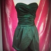 Jessica Mcclintock Strapless Green Dupioni Taffeta Dress 4 Photo