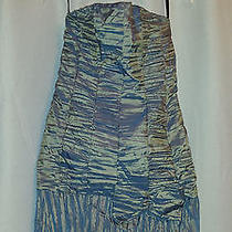 Jessica Mcclintock Strapless Short Formal Metallic Dress Size 6 Photo