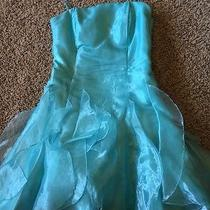 Jessica Mcclintock Teal Short Cocktail Formal Dress Size 7 Photo
