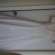 Jessica Mcclintock Wedding Dress Off Shoulder Wedding Size 6  Photo