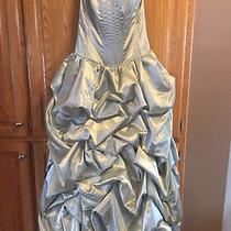 Jessica Mcclintock Wedding Formal Prom Dress Size 8 Sea Green Gown Beautiful Photo