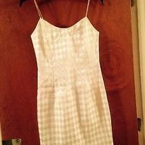 Jessica Mcclintock White Dress 7/8 Rhinestones  Photo