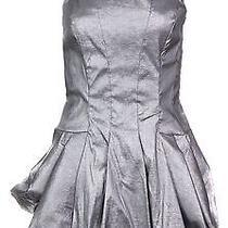 Jessica Mcclintock Women's Bubble Hem Taffeta Dress 6 Platinum Photo