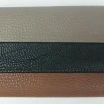 Jessica Simpson Anna Aria Wallet Snap Clutch Bi-Fold Pebble Grey/black/whiskey  Photo