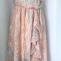 Jessica Simpson Beautiful Women's Flowy Dress Size 6 Asymmetrical Hem Wedding Photo
