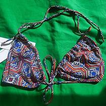 Jessica Simpson Bikini Top Nwt Size D Cup Multi Color Geometric Padded Cups  Photo
