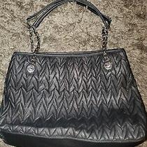 Jessica Simpson Black Tote Bag Purse Shoulder Carry Pvc   Photo