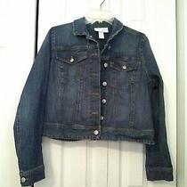 Jessica Simpson Blue Jean Jacket Womens Maternity Size Medium Euc Photo