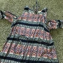 Jessica Simpson Cold Shoulder Maternity Shirt Size Large Photo