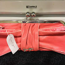 Jessica Simpson Coral Wrist Lit Clutch Jenny Bow Nwt Photo