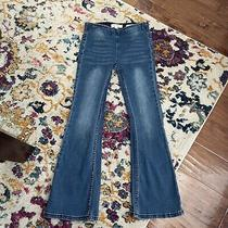 Jessica Simpson Girls Pacey Pull on Flare Denim Blue Jeans Size 10 Photo