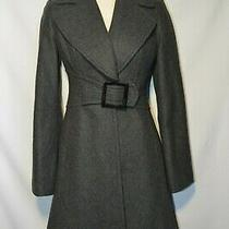 Jessica Simpson Gray Trench Coat Charcoal Gray Size Xs  Belted Photo