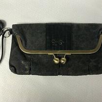 Jessica Simpson Handbag Clutch Purse Black and Gold  Photo