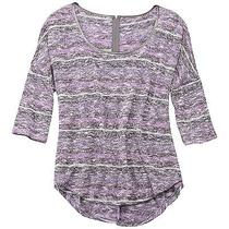 Jessica Simpson High Low Top Sweater Purple Silver Women's Xl Photo