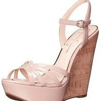 Jessica Simpson Js-Bevin 8.5 Heels Cork Wedge Nude Blush Patent Photo