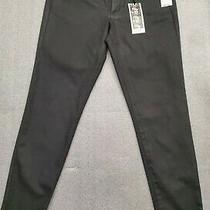 Jessica Simpson Kiss Me Super Skinny Black Coated Jeans Pants Womens Size 31 X30 Photo
