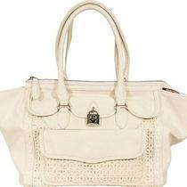 Jessica Simpson Madison Satchel Handbag in Antique White Photo