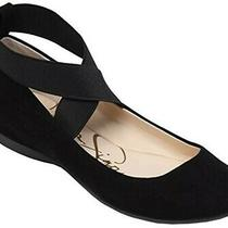 Jessica Simpson Mandayss Black Microsuede Ballet Flat Sz 9 Womens New in Box Photo
