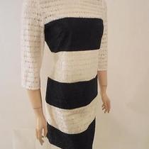 Jessica Simpson New Beautiful Black and Ivory Lace Dress Sz 2    (B2 - 7050 Photo