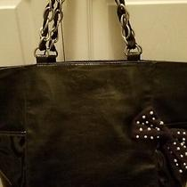 Jessica Simpson Purse Bag Large Black Nice Photo