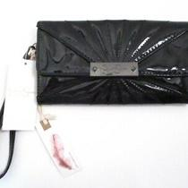 Jessica Simpson Shiny Black Snap Wristlet Wallet  Zoe  Removable Wrist Strap Photo