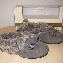 Jessica Simpson Shoes Size 6 M Womens New Prettier Charcoal Micro Suede Slippers Photo