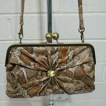 Jessica Simpson Snake Skin Embossed Clutch Shoulder Bag Handbag Purse Photo