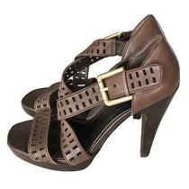 Jessica Simpson Strappy High Heels Strappy Sandals Brown Leather Jp-Derry Sz 6 Photo
