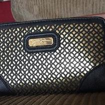 Jessica Simpson Wallet Organizer Cell Phone Holder in Black and Gold Photo