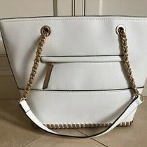 Jessica Simpson White Sonia Tote Bag Photo