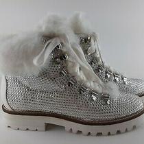 Jessica Simpson Women's Js-Norina White Faux Suede Winter Rhinestone Boots Size7 Photo