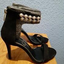 Jessica Simpson Womens Jalinda 2 Open Toe Blush Size 65 Black No Box Heels  Photo