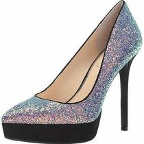 Jessica Simpson Womens Lael Closed Toe Platform Blush Iridescent Size 5.5 Photo