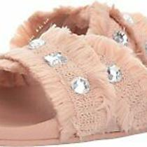 Jessica Simpson Womens Playah Open Toe Casual Nude Blush Cotton Weave Size 6.0 Photo