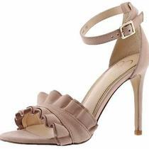 Jessica Simpson Womens Silea Leather Open Toe Casual Nude Blush Size 10.0 3h46 Photo