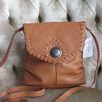 Jessica Simpson 'Wood Brown' Montana Crossbody Shoulder Bag Purse Nwt  Photo