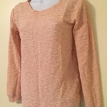 Jessica Simpson Xs Blush Pink Textured Lightweight Summer Sweater Xsmall  Photo