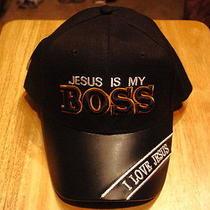 Jesus Is My Boss Baseball Cap Hat ( Black ) Photo