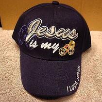 Jesus Is My Life Saver Religious Baseball Cap ( Dark Blue ) Photo