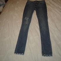 Jet by John Eshaya Antique Wash Skinny Lightning Bolt Jeans Photo