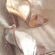 Jewel Badgley Mischka Formal Rose Glitter Strappy Sandals Heels Shoe Size 6 Photo