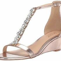 Jewel Badgley Mischka Women's Darrell Sandal Rose Rose Gold/metallic Size 6.5 Photo