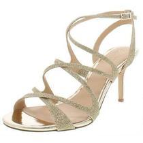 Jewel Badgley Mischka Womens Tasha Gold Evening Sandals 10 Medium (Bm) 8005 Photo