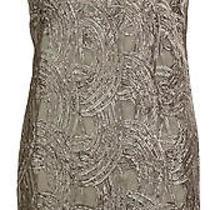Jeweled Necklace Shift Dress (8p Silver) Photo