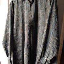 Jhane Barnes Men's Shirt Casual Sz Xl/tg Hand Woven Fabric  Dark Aqua Photo